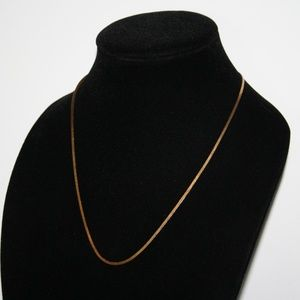Vintage gold herringbone necklace 20""